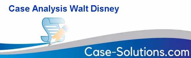 Walt disney case study