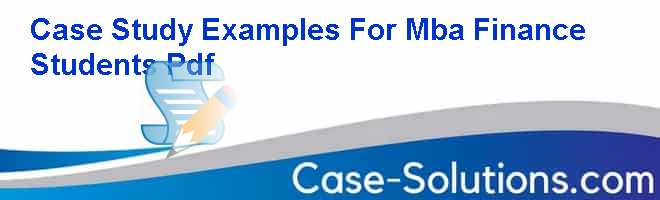 Mba case study solution website