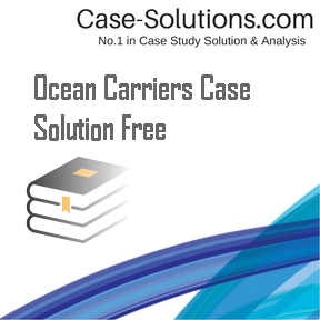 ocean carriers case analysis Harvard business case: 9-202-027 april 18, 2002 angela chao ocean carriers i need help with the mathematical analysis along with an explanation of the analysis and the.